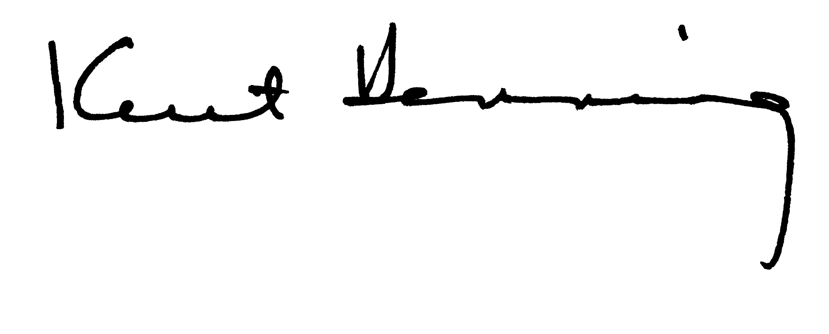 Kent Henning's Signataure