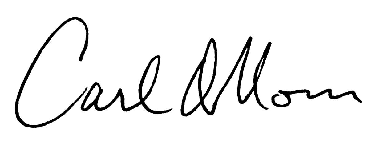 Dr. Carl Moses' signature